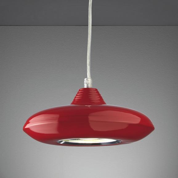 Pendelleuchte Leah mit Led - Rot, MODERN, Glas/Kunststoff (21/21/180cm) - Mömax modern living
