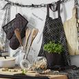 Schürze Blacky Schwarz/Weiß - Schwarz/Weiß, LIFESTYLE, Textil (60/90cm) - Mömax modern living