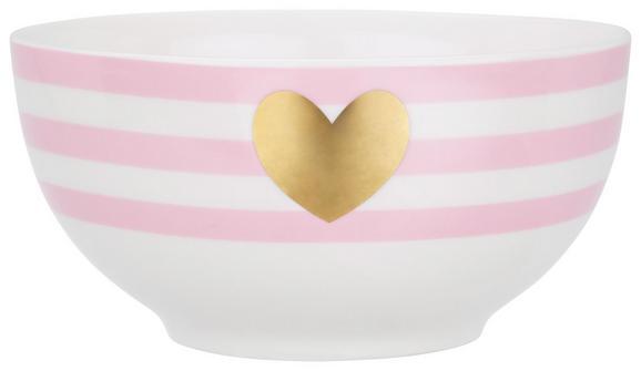 Müslischale Bibi aus Keramik Ø ca. 14cm - Goldfarben/Rosa, ROMANTIK / LANDHAUS, Keramik (14cm) - Mömax modern living