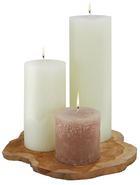 Tömbgyertya Ruth-rustik - Világoszöld/Fáradt rózsaszín (10/10cm) - Mömax modern living