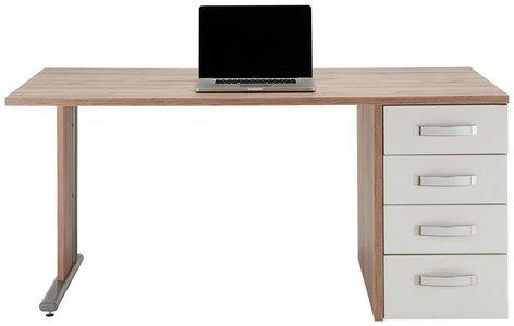 Schreibtisch In Weiss Eichefarben Online Kaufen Momax