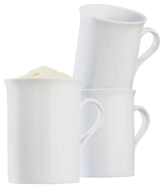 Kaffeebeche Adria aus Porzellan ca. 255ml - Weiß, KONVENTIONELL, Keramik (0,260cm) - Mömax modern living