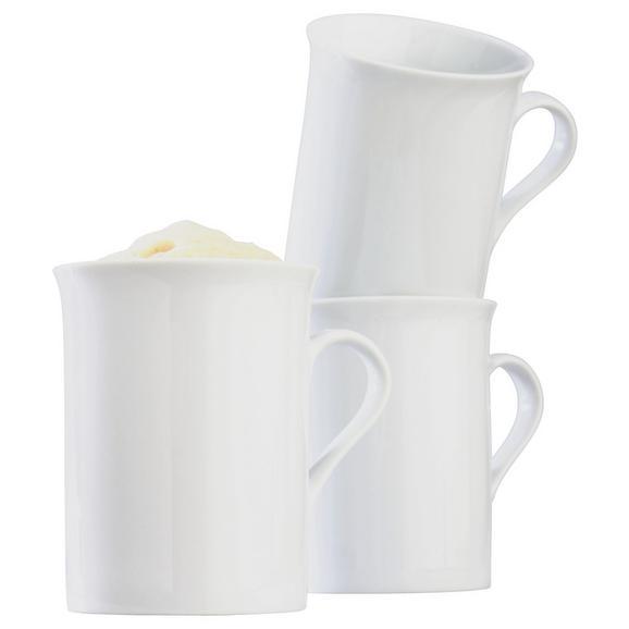 Kaffeebecher Adria aus Porzellan ca. 255ml - Weiß, KONVENTIONELL, Keramik (255ml) - Mömax modern living
