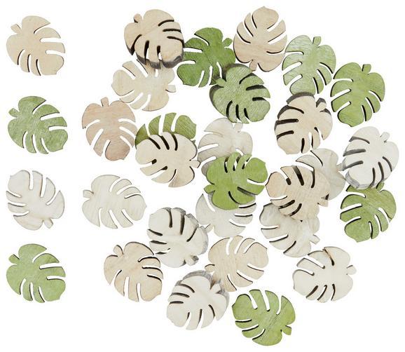 Dekoracija Amanda - zelena, Romantika, les (3cm)