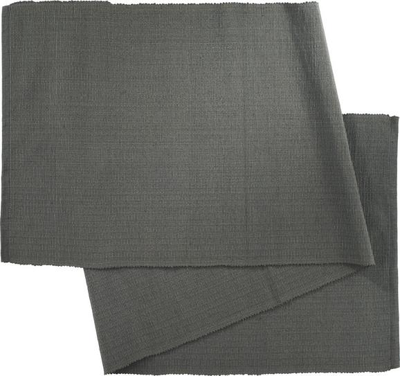 Tischläufer Maren in Anthrazit - Anthrazit, Textil (40X/150cm) - Mömax modern living