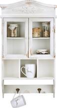 Wandschrank Andreas - Weiß, Glas/Holz (43/16/75cm) - Premium Living