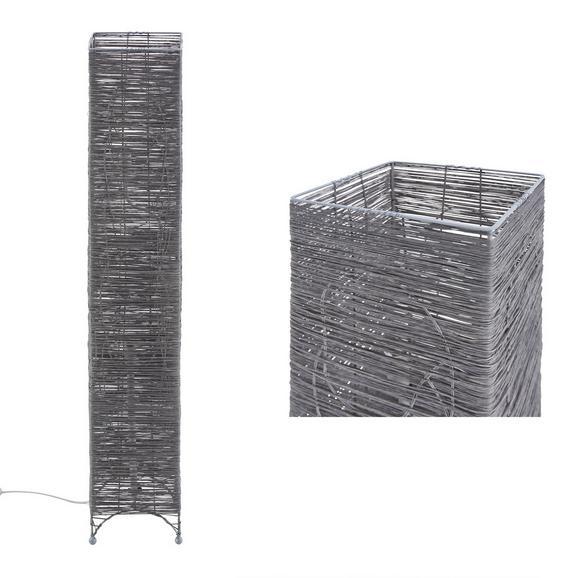 Állólámpa Fatima - Szürke, romantikus/Landhaus, Fém/Textil (18/112cm) - Mömax modern living