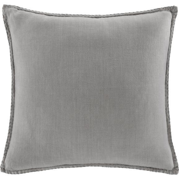 Kissen in Taupe 'Lorena' ca. 45x45cm - Taupe, MODERN, Textil (45/45cm) - Bessagi Home