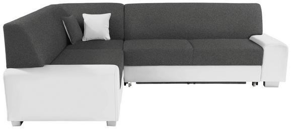 Funkcijska Sedežna Garnitura Maimi - temno siva/bela, Moderno, umetna masa/tekstil (210/260cm) - MÖMAX modern living