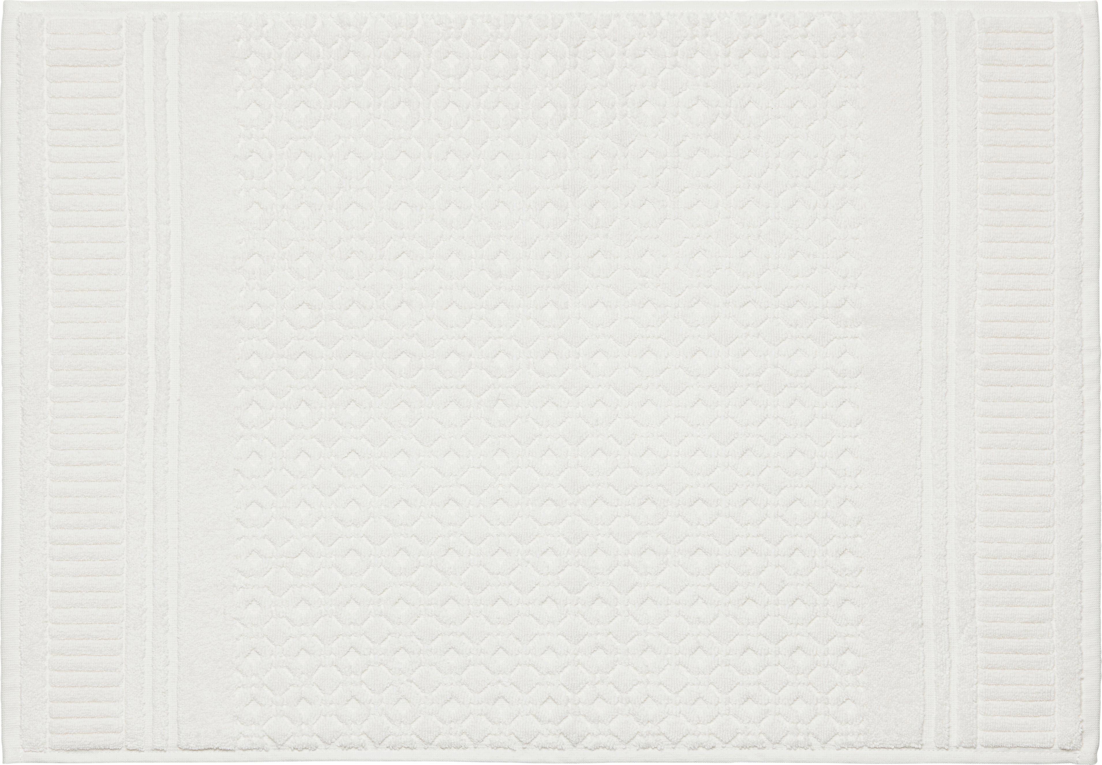 Fürdőszobaszőnyeg Carina - fehér, romantikus/Landhaus, textil (50/70cm) - MÖMAX modern living