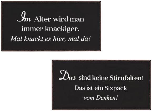 Dekoschild Nena Schwarz/Weiß - LIFESTYLE, Metall (40/20cm)