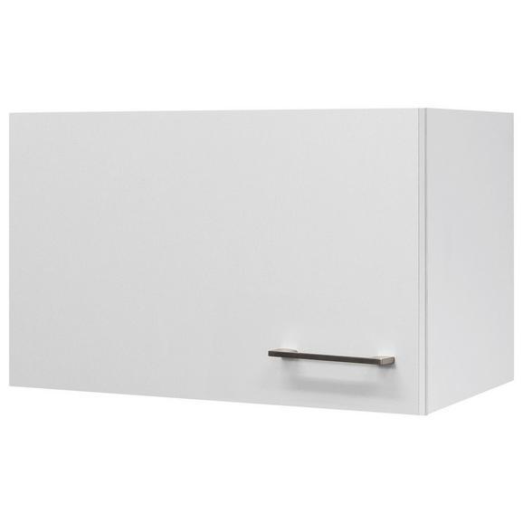 Küchenoberschrank Weiß - Edelstahlfarben/Weiß, MODERN, Holzwerkstoff/Metall (60/32/32cm) - FlexWell.ai