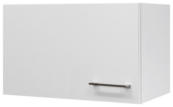 Küchenoberschrank Weiß - Edelstahlfarben/Weiß, MODERN, Holzwerkstoff/Metall (60/32/32cm)