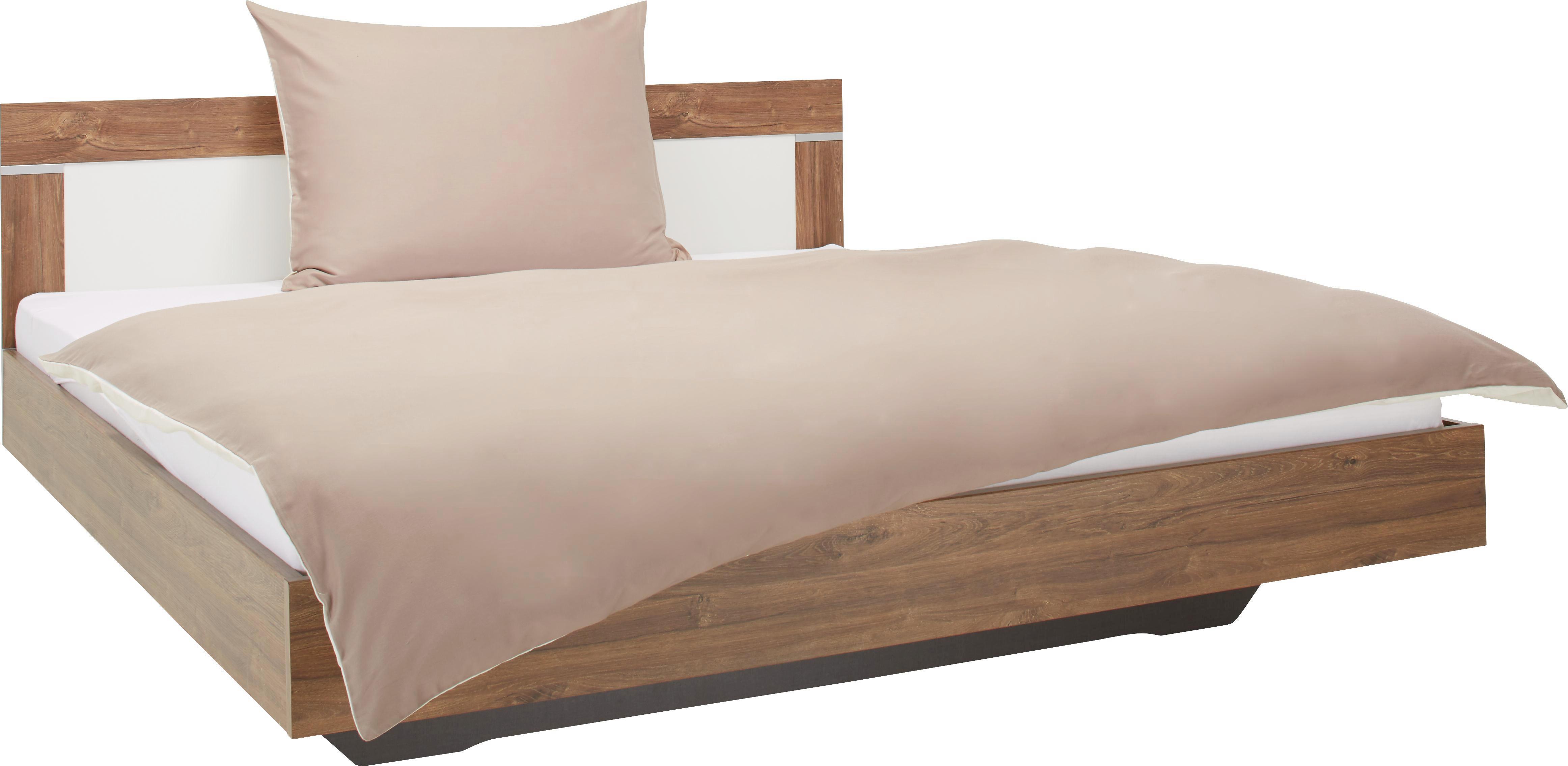 Ágykeret Venlo 180x200 Ágykeret - fehér/szürke, konvencionális, faanyagok (189/83/205cm) - BASED