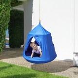 Hängeschaukel Leon - Blau, MODERN, Kunststoff/Textil (110/120cm) - Modern Living