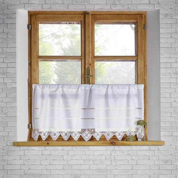 Gardine in Weiß ca. 45x100 cm 'Carmen' - Weiß, KONVENTIONELL, Textil (50/100cm) - Bessagi Home