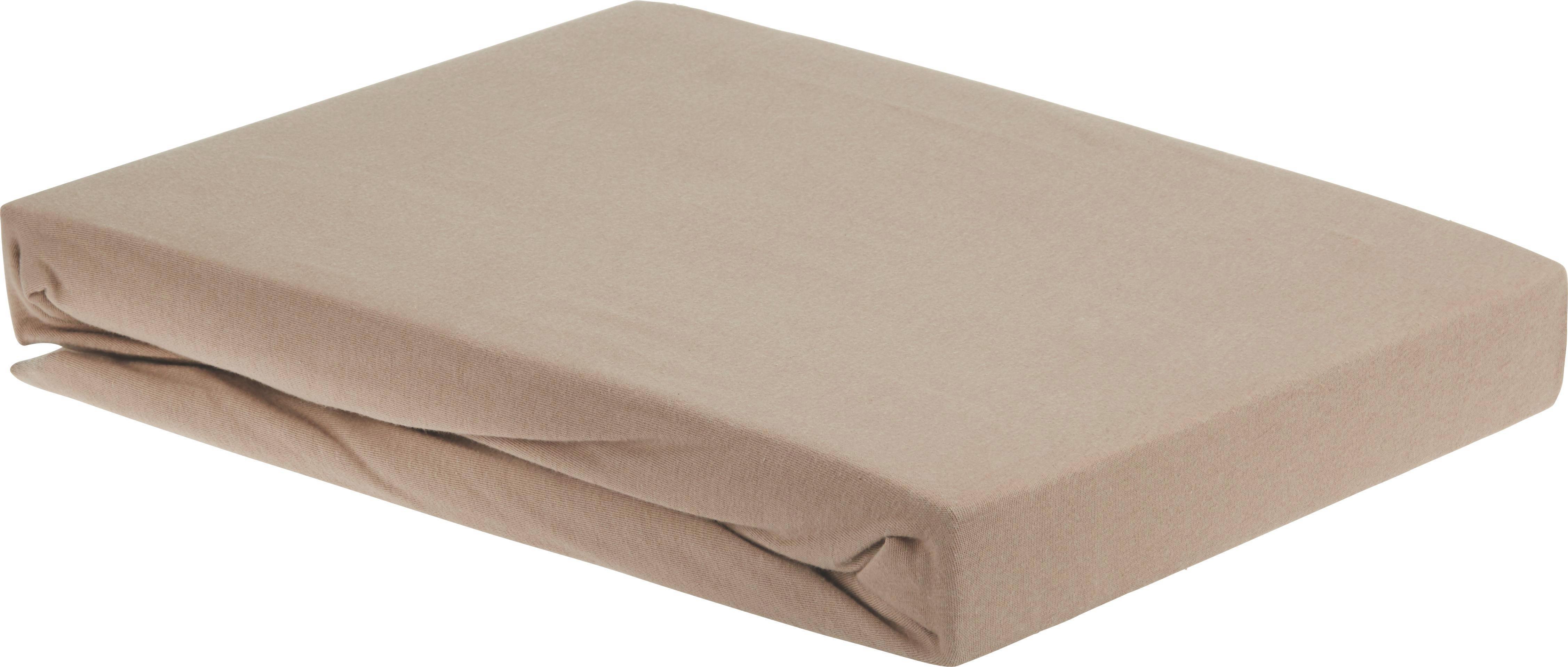 Spannbetttuch Elasthan ca. 160x200cm - Taupe, Textil (160/200/15cm) - PREMIUM LIVING