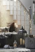 Laterna Manuela - S 3 Led-svečami - siva, Konvencionalno, umetna masa (24/71/24cm) - Mömax modern living