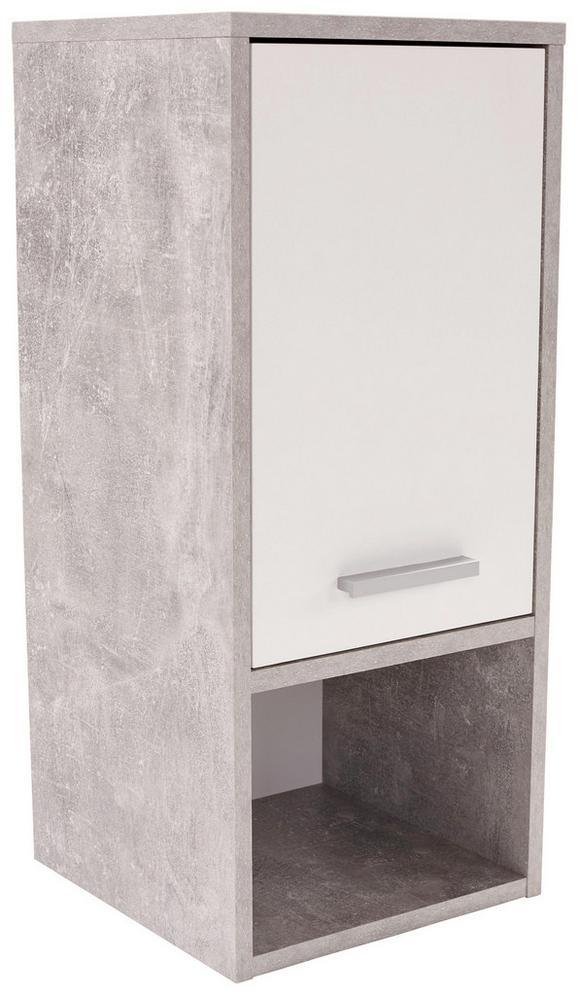 Viseča Omara Attack - bela/krom, Moderno, umetna masa/leseni material (32/68/28cm) - Mömax modern living