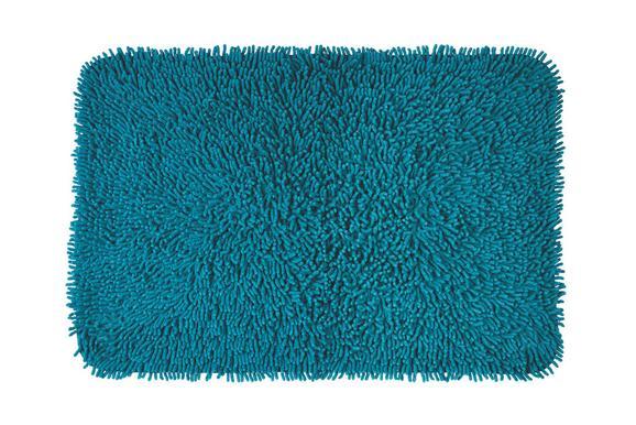 Badteppich Jenny ca. 60x90cm - Türkis, Textil (60/90cm) - MÖMAX modern living