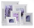 Bilderrahmen Provence, ca. 13x18cm - Weiß, ROMANTIK / LANDHAUS, Glas/Holz (13/18cm) - Mömax modern living