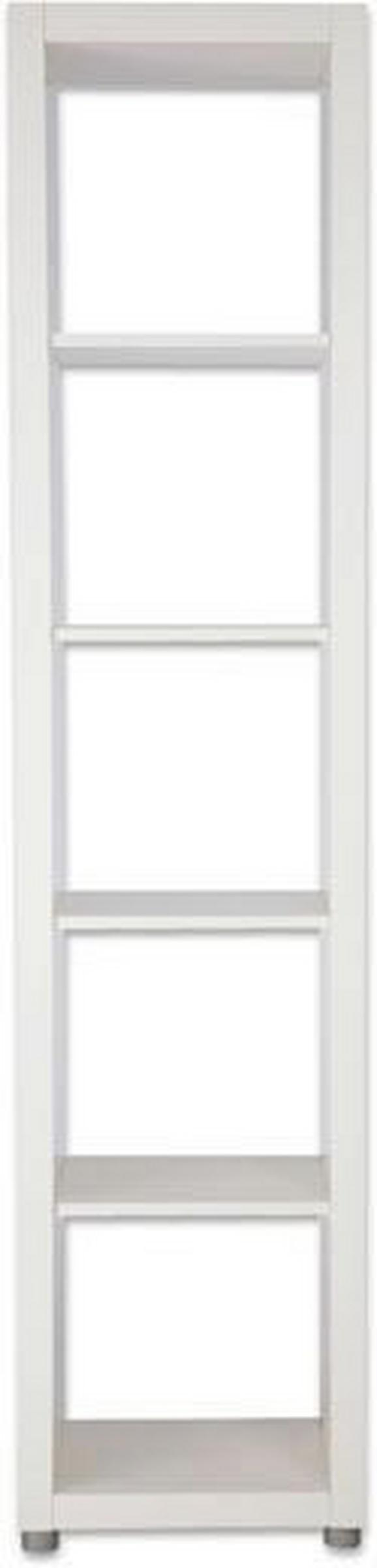 Raumteiler in Weiß lackiert - Silberfarben/Weiß, Basics, Holzwerkstoff/Kunststoff (44/191/35cm) - MÖMAX modern living
