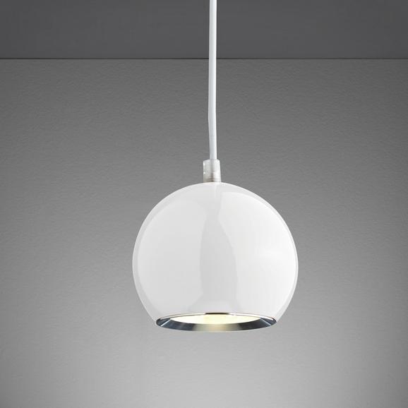 LED-Hängeleuchte Elliot - Weiß, MODERN, Glas/Metall (12/12/180cm) - MÖMAX modern living