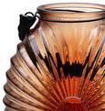 Windlicht Elea - Rot, MODERN, Glas (18,8/23,8cm) - Mömax modern living