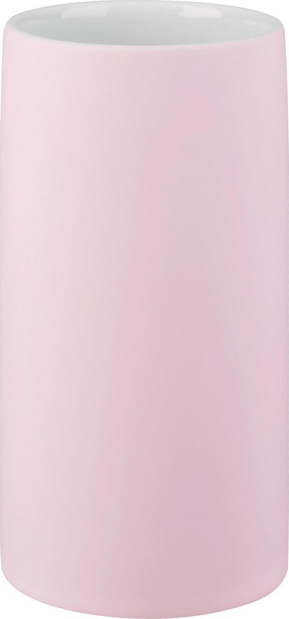 Lonček Za Umivanje Zob Melanie - roza, keramika (6,5/12cm) - Mömax modern living