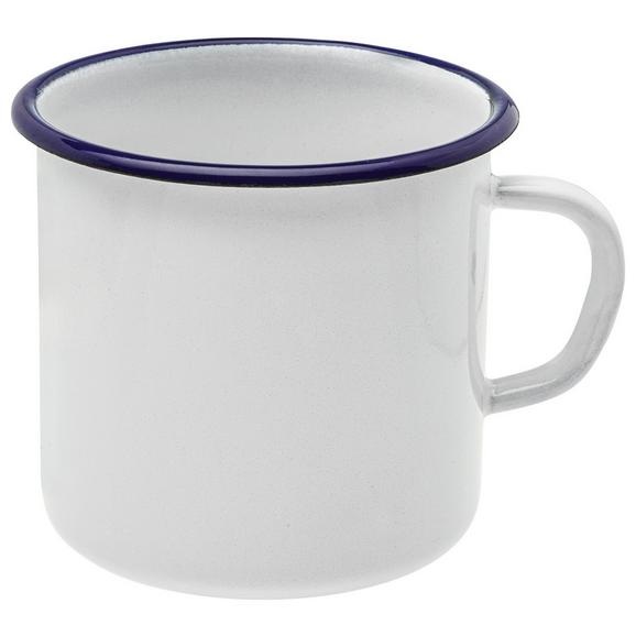 Csésze Leni - Fehér/Kék, Fém (8cm)