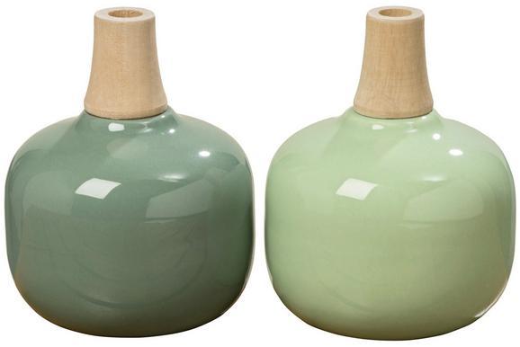 Vase Relax in verschiedenen Farben - Grün, MODERN, Keramik (11/13cm)