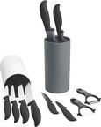 Blok Za Nože Thorsten - siva, Konvencionalno, umetna masa (11/22,5cm) - Mömax modern living