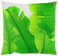 Zierkissen Leaf Grün/Weiß 45x45cm - Grün, LIFESTYLE, Textil (45/45cm) - MÖMAX modern living