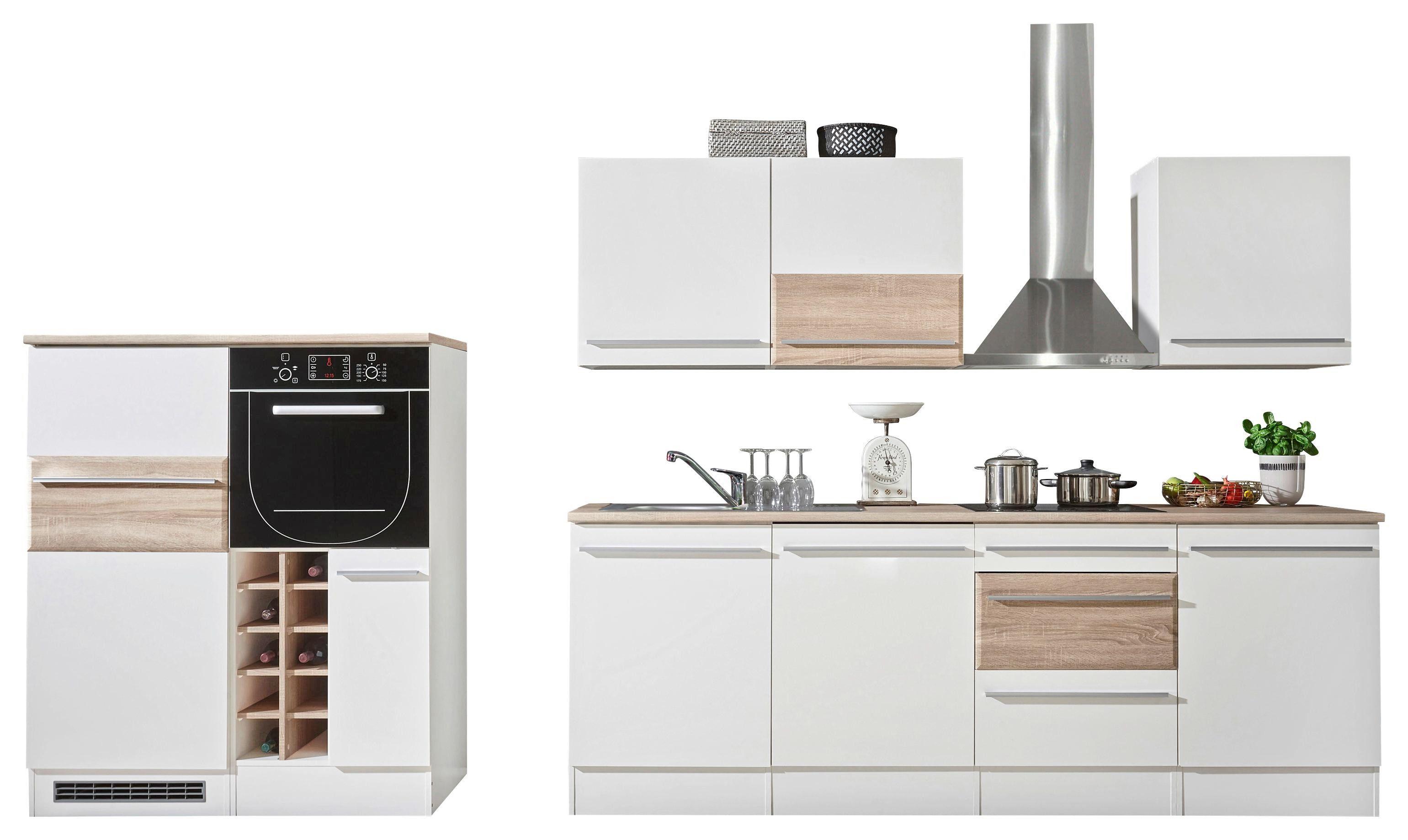 Kuhinjski Blok Welcome Big - bela/hrast sonoma, Moderno, leseni material (240/205/60cm) - Mömax modern living
