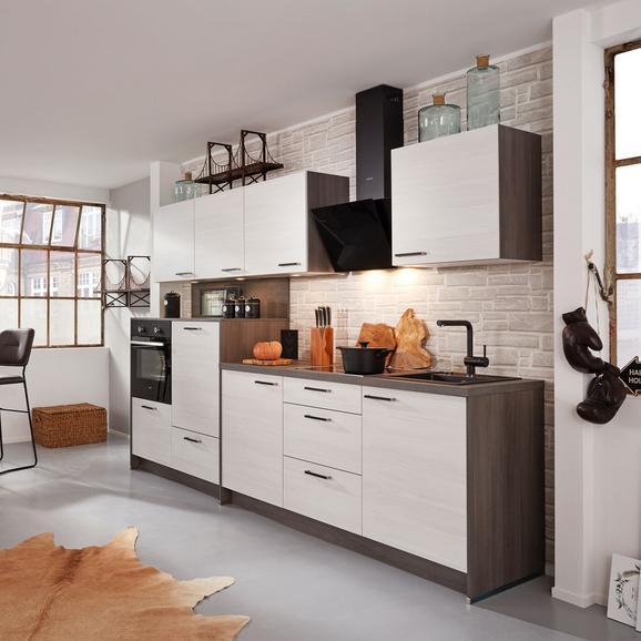 Küchenblock Plan, in Eiche Weiß - Eichefarben/Weiß, MODERN, Holzwerkstoff (303,2cm) - Express