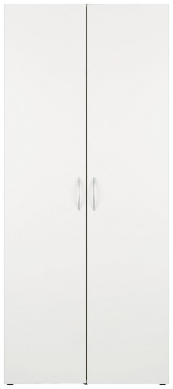 Večnamenska Omara Mrk - aluminij/bela, umetna masa/leseni material (80/185/40cm)