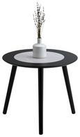 Beistelltisch Natur/Schwarz - Schwarz/Naturfarben, MODERN, Holz/Holzwerkstoff (48/42/48cm) - Modern Living