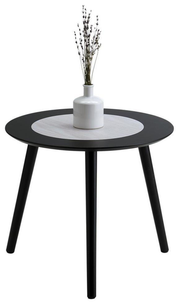 Beistelltisch Natur/Schwarz - Schwarz/Naturfarben, MODERN, Holz (48/42/48cm) - Modern Living