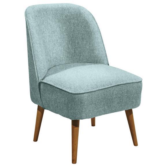 Sessel in Hellblau 'Pino ES PV' - Hellblau/Kieferfarben, Trend, Holz/Holzwerkstoff (54/83/66cm) - Livetastic