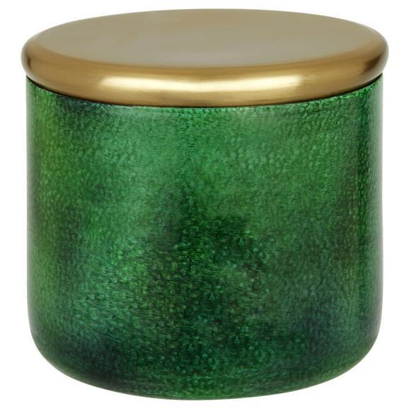 Posoda Za Shranjevanje Medina - zlata/temno zelena, Design, kovina (7cm)
