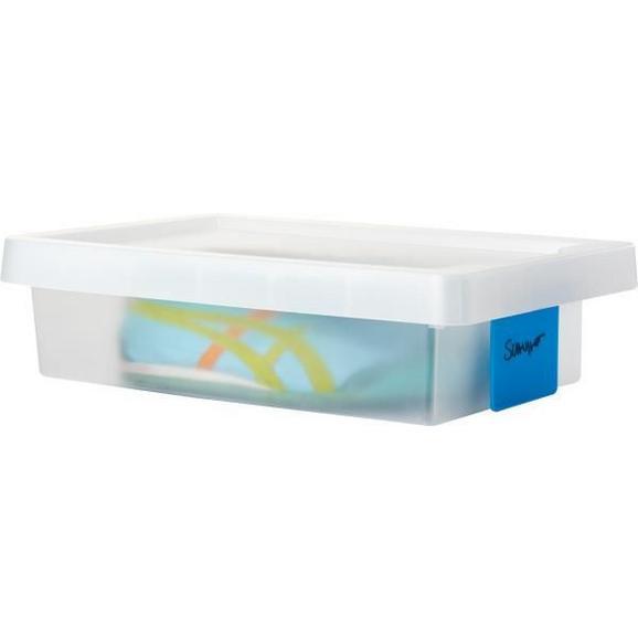 Doboz Tetővel Írható Kártyával - Áttetsző, konvencionális, Műanyag (36.4/25.6/9.8cm) - Mömax modern living