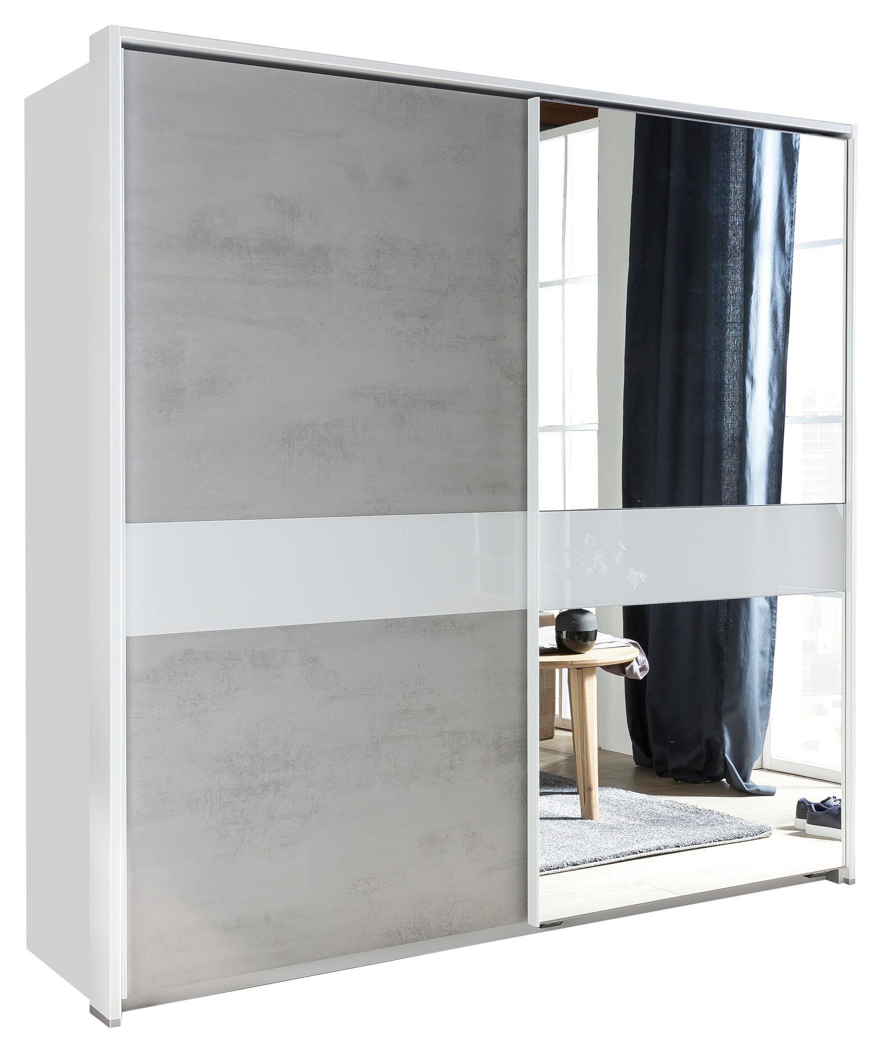 Schwebetürenschrank weiß grau  Schwebetürenschrank in Grau/Weiß online kaufen ➤ mömax