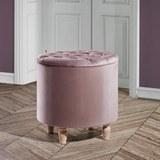 Hocker Rosalie inkl. Abnehmbarem Deckel - Rosa, MODERN, Holz/Textil (50/50cm) - Mömax modern living