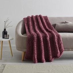 Kuscheldecke Berita ca.127x152cm - Rosa, Textil (127/152cm) - Mömax modern living