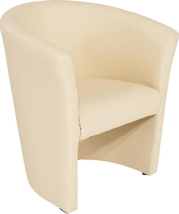 Fotelj Hugo - črna/bež, Basics, umetna masa/tekstil (69/76/59cm) - Mömax modern living