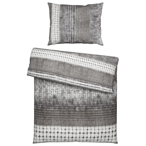 Bettwäsche Laris Grau ca.140x200cm - Grau, Textil (140/200/1cm) - Premium Living