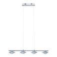 Pendelleuchte Palu mit LED 4-flammig - Chromfarben, Glas/Metall (90/16,5/120cm) - Bessagi Home
