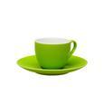 Espressotase mit Untertasse Sandy aus Keramik ca. 90ml - Grün, KONVENTIONELL, Keramik (6,4/5cm) - Mömax modern living