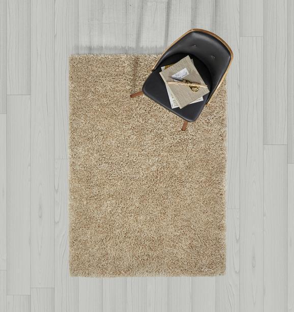 Hochflorteppich Shaggy 120x170cm - Beige, MODERN, Textil (120/170cm) - MÖMAX modern living