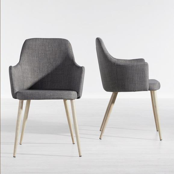 Stuhl Milenka - Grau, MODERN, Holz/Textil (58/86/60cm) - Modern Living